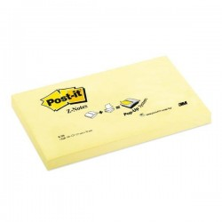 Blocco Post It Super Sticky Z Notes - giallo Canary - 76 x 127mm - 100 fogli - Post It