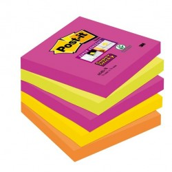Blocco foglietti Post It Super Sticky - colore Cape Town - 76 x 76mm - 90 fogli - Post It