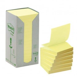 Blocco Post It Z Notes Green - giallo - 76 x 76mm - 100 fogli - riciclabile 100% - Post It