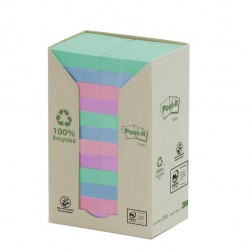 Blocco Post It Z Notes Green - linea Natural - 38 x 51mm - 100 fogli - riciclabile 100% - Post It