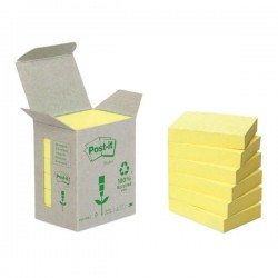 Blocco Post It Z Notes Green - giallo - 38 x 51mm - 100 fogli - riciclabile 100% - Post It