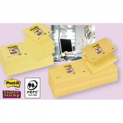 Blocco Post It Super Sticky Z Notes - giallo Canary - 76 x 76mm - 90 fogli - Post It