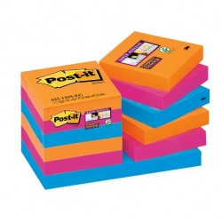 Blocco foglietti Post It Super Sticky - colore Bangkok - 47,6 x 47,6mm - 90 fogli - Post It