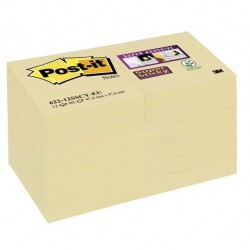 Blocco Post It Super Sticky giallo Canary - 47,6 x 47,6mm - 90 fogli - Post It