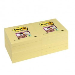 Blocco Post It Super Sticky giallo Canary - 76 x 76mm - 90 fogli - Post It