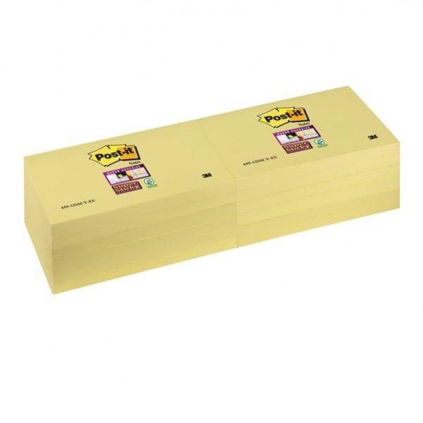 Blocco Post It Super Sticky giallo Canary - 76 x 127mm - 90 fogli - Post It
