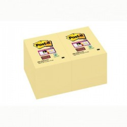 Blocco foglietti Post It Super Sticky giallo Canary - 47,6 x 76mm - 90 fogli - Post It