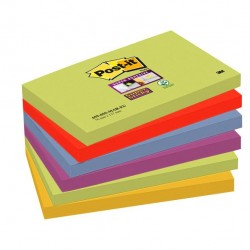 Blocco foglietti Post It Super Sticky - colore Marrakesh - 76 x 127 mm - 90 fogli - Post It