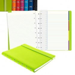 Notebook - similpelle - verde - A5 - a righe - 56 pagine - Filofax