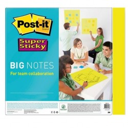 Blocco di fogli Super Sticky Big Notes - 279 x 279mm - giallo neon - 30 fogli - Post It