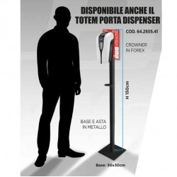Totem in metallo H150cm per dispenser automatico Gelly