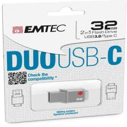 Emtec - Usb Duo 3.0 + Type-C - ECMMD32GT403 - 32GB