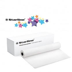 Carta plotter - stampa inkjet - 420 mm x 50 mt - 80 gr - opaca - bianco - Starline